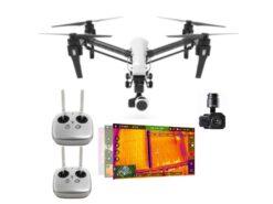 termokaameraga droon DJI Inspire 1 kahe juhtpuldiga